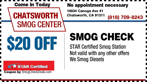 Dmv Smog Check >> 15 Off Smog Check Coupon At Chatsworth Smog Check Coupons
